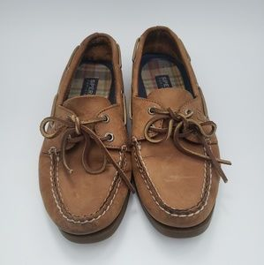 Sperry top sider leather boat shoes size 8.5